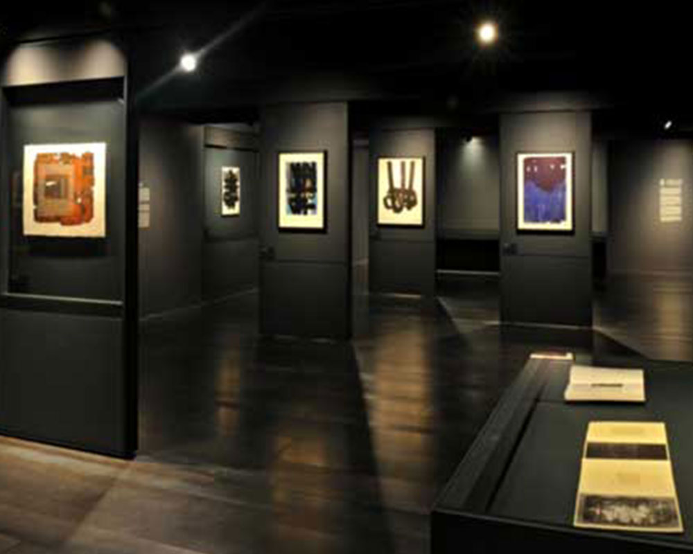 Gravures et peintures au musée Soulages à Rodez